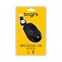 Mini mouse USB retrátil Bright Preto