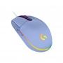 Mouse gamer RGB com tecnologia Lightsync Logitech G203 Lilas