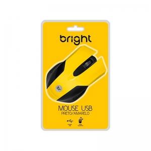 Mouse preto/amarelo Bright 0378