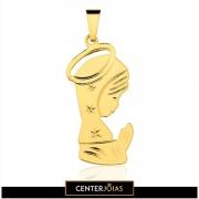 Pingente Ave Maria - Folheados a Ouro