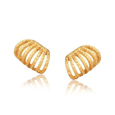 Brincos Meia Coroa - Folheados a Ouro