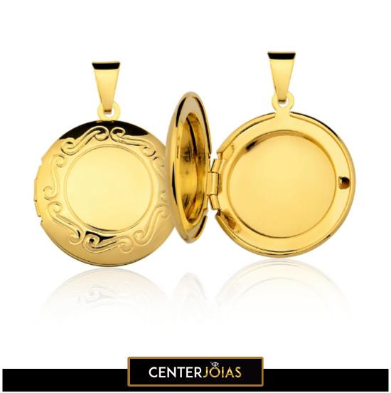 Pingente - Camafeu - Porta Foto - Folheados a Ouro
