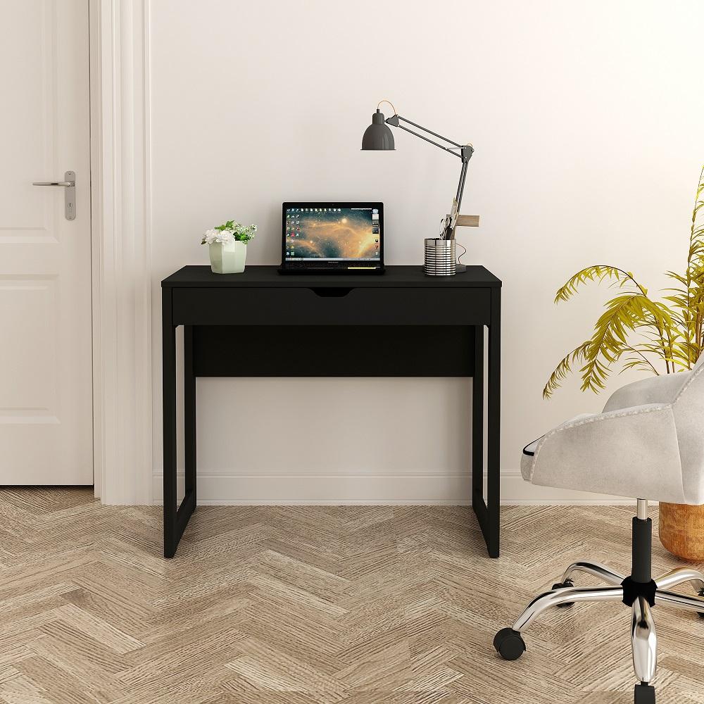 Mesa para Computador Escrivaninha com Gaveta AZ2005 Preto Ammo Mobili