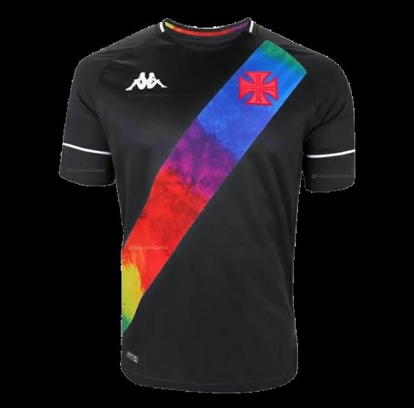 Camisa Kappa Vasco LGBT Jogo Preta