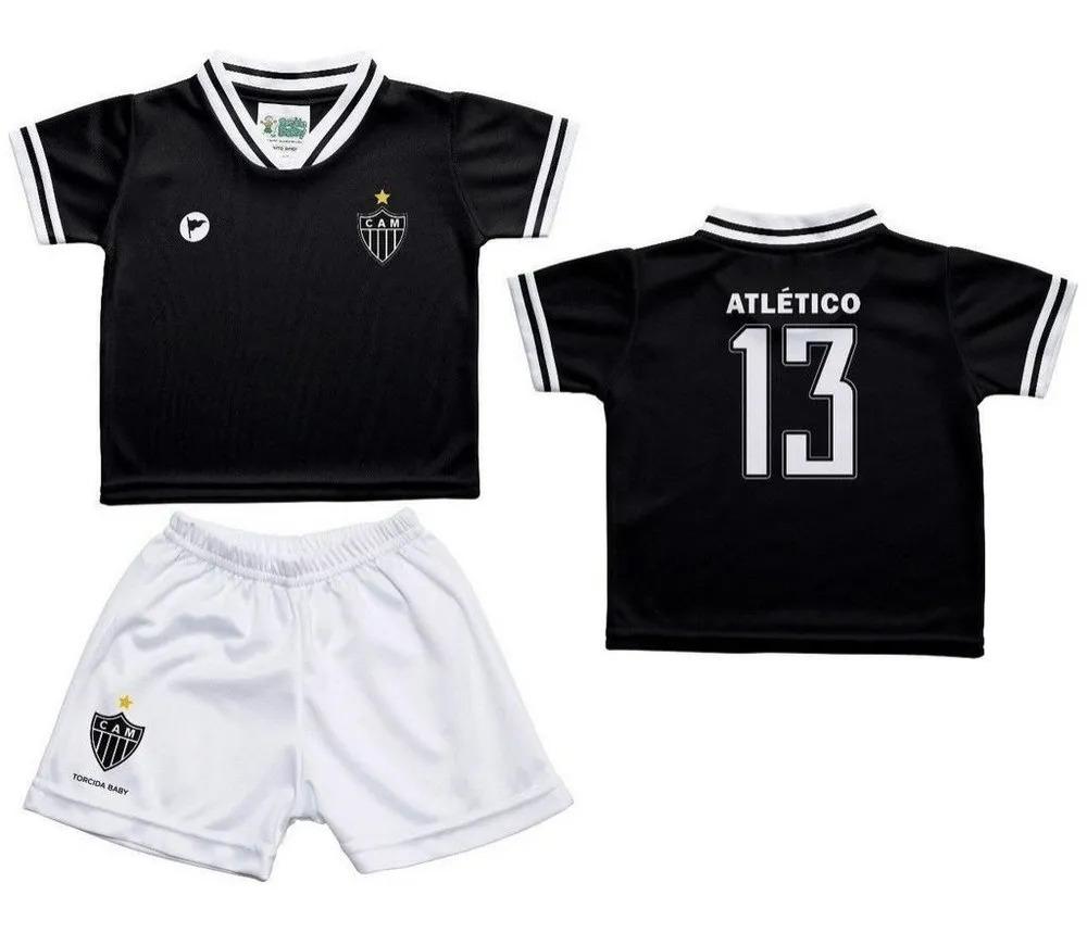 Conjunto Bebê Atlético MG Torcida Baby