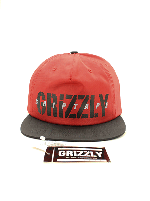 Boné Headwear Grizzly Highs and Lows Snapback 5 Pannel Red