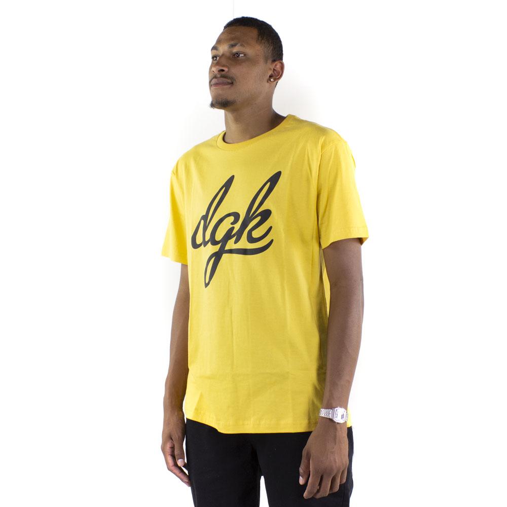 Camiseta DGK Script Amarela