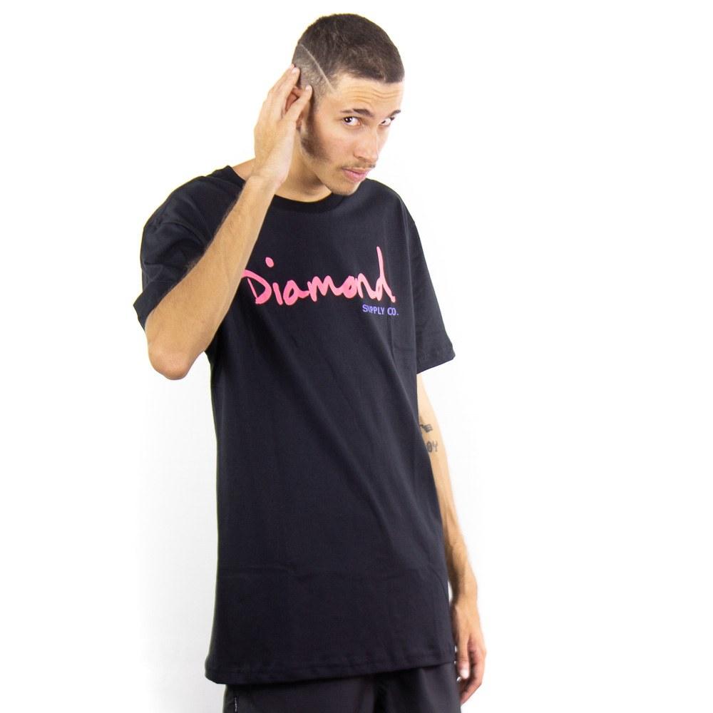 Camiseta Diamond Og Script Tee Preto