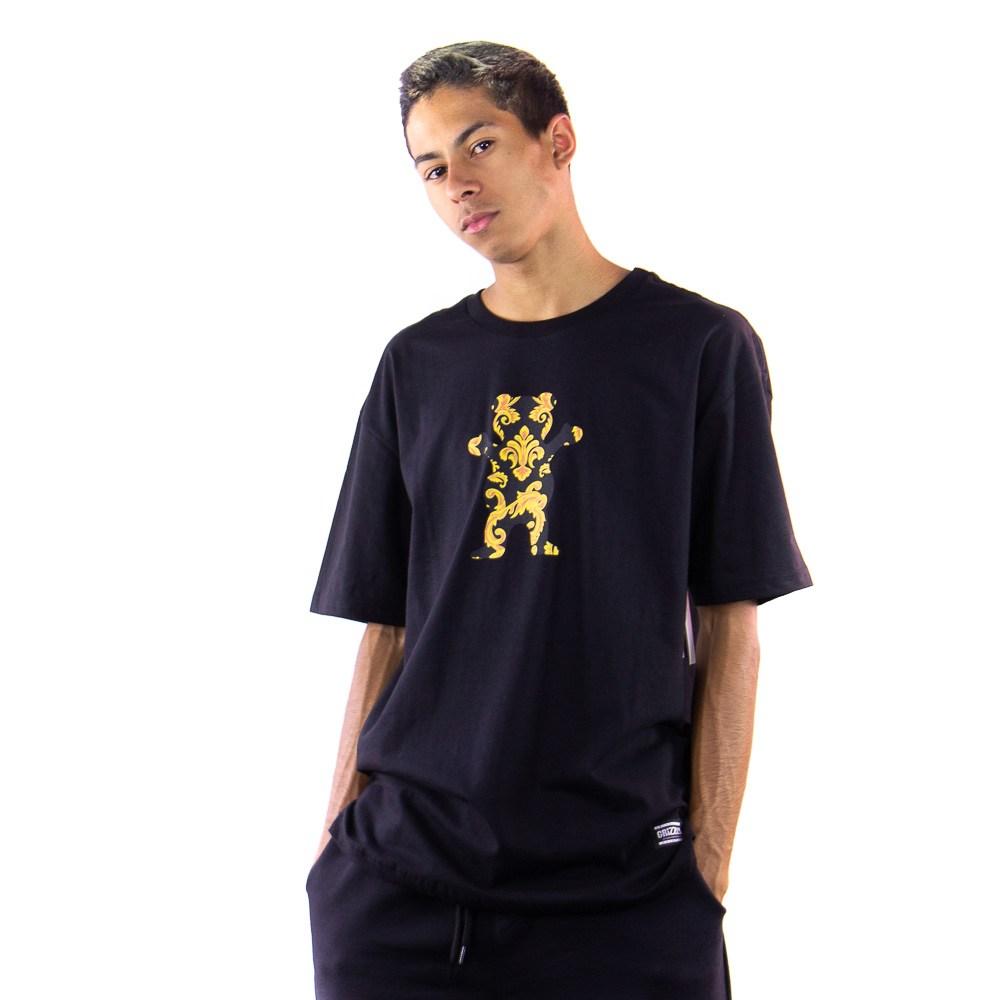 Camiseta Grizzly Gold Laef Preto