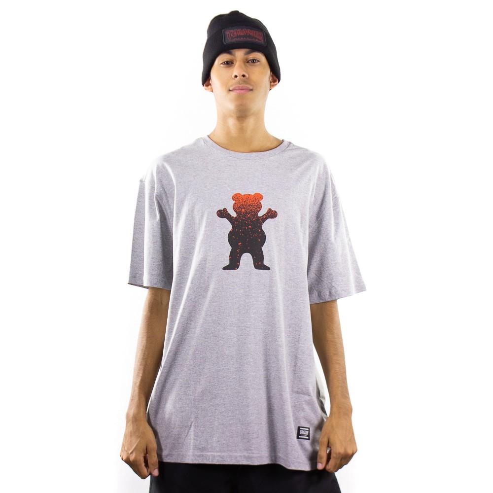 Camiseta Grizzly Og Bear Fadeway Tee Heather Cinza