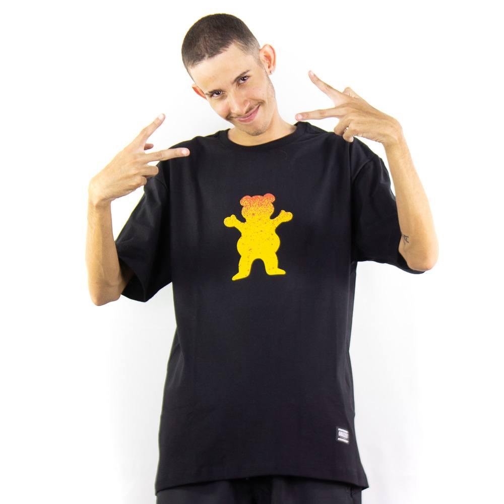 Camiseta Grizzly OG Bear Fadeway Tee Preto