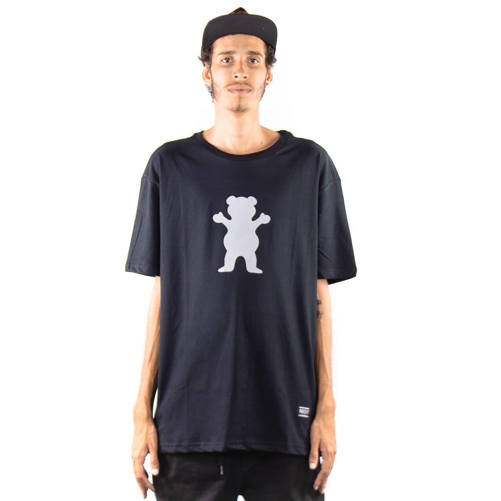 Camiseta Grizzly OG Bear Tee Preto Refletivo