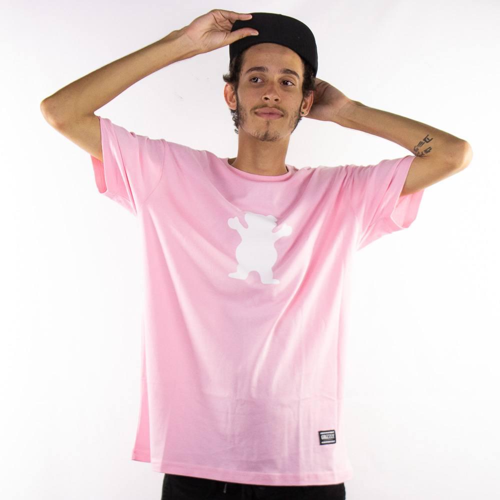 Camiseta Grizzly OG Bear Tee Rosa
