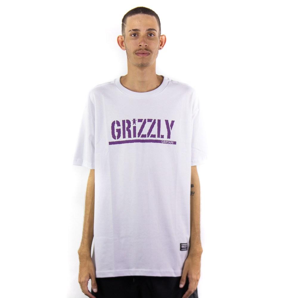 Camiseta Grizzly Stamp Tee Branco