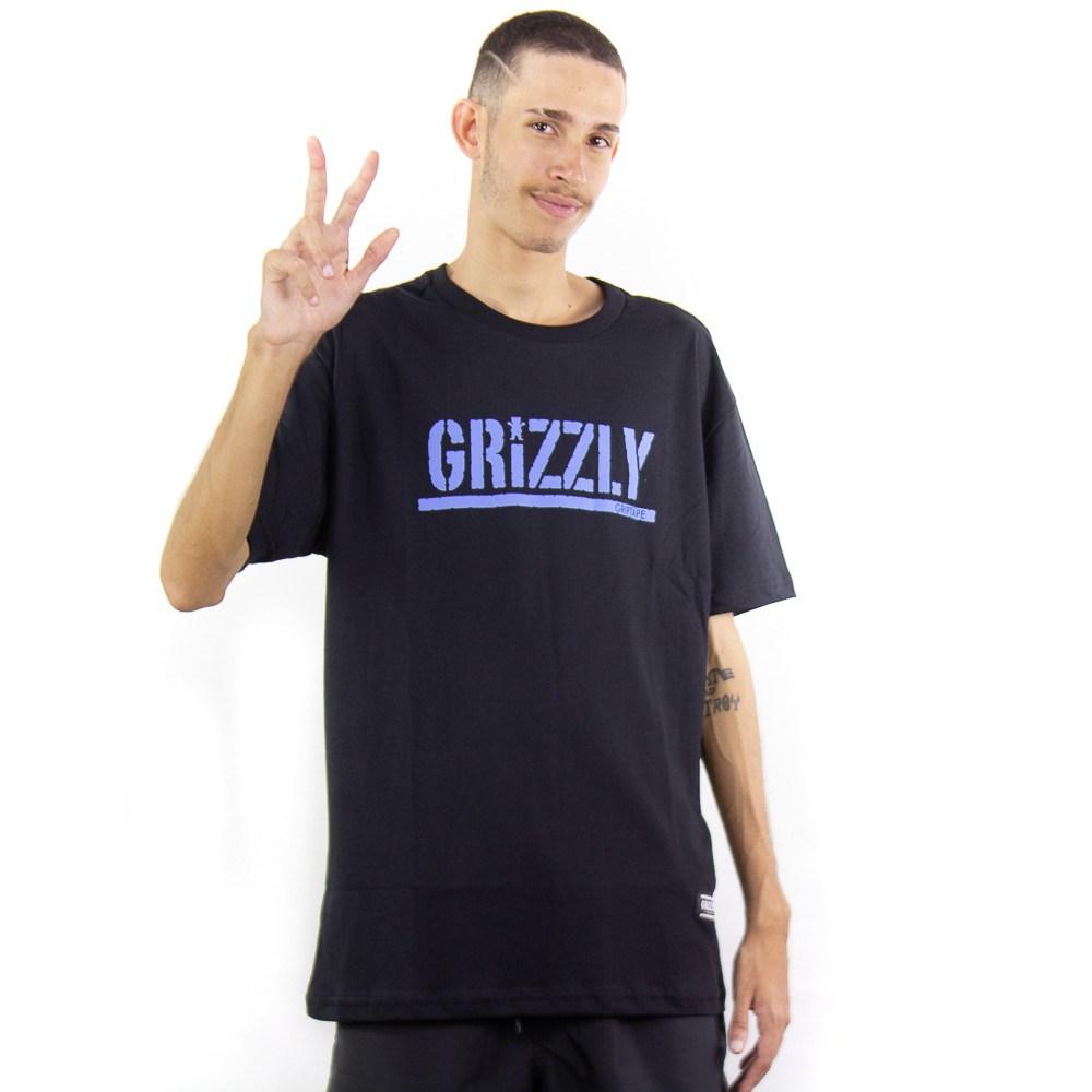 Camiseta Grizzly Stamp Tee Preto