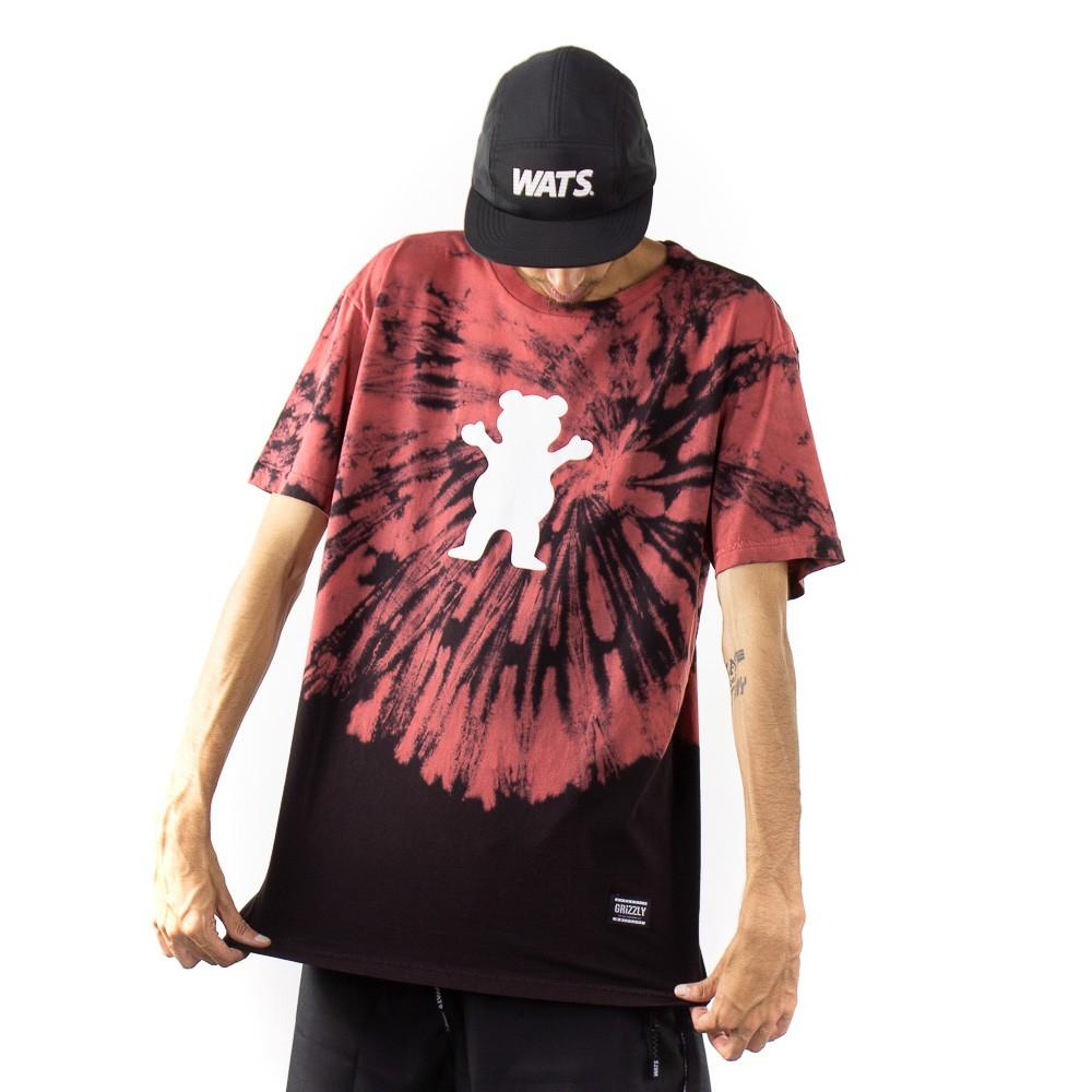 Camiseta Grizzly Tie dye Vermelho