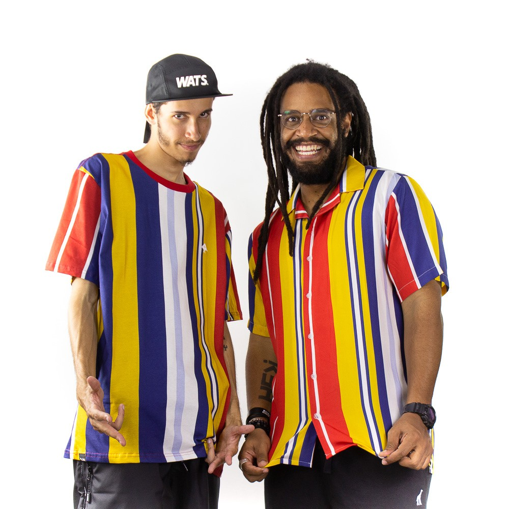 Camiseta LRG Listrada Colorida