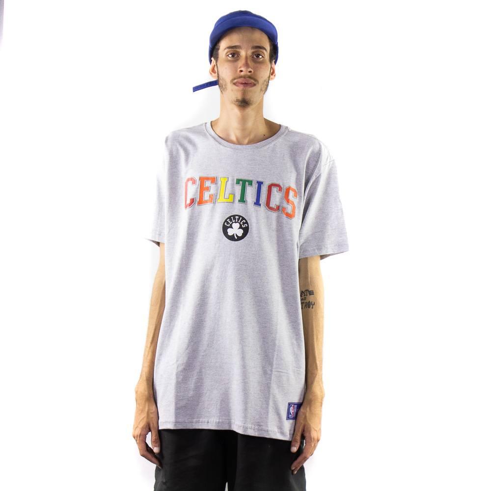 Camiseta NBA Celtics Cinza