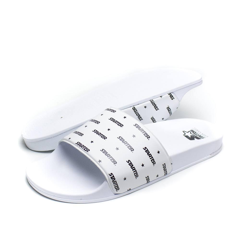 Chinelo Starter Logo Slide Branco