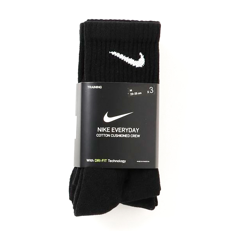 Meia Nike Everyday Cotton Cushioned Crew 3 pares