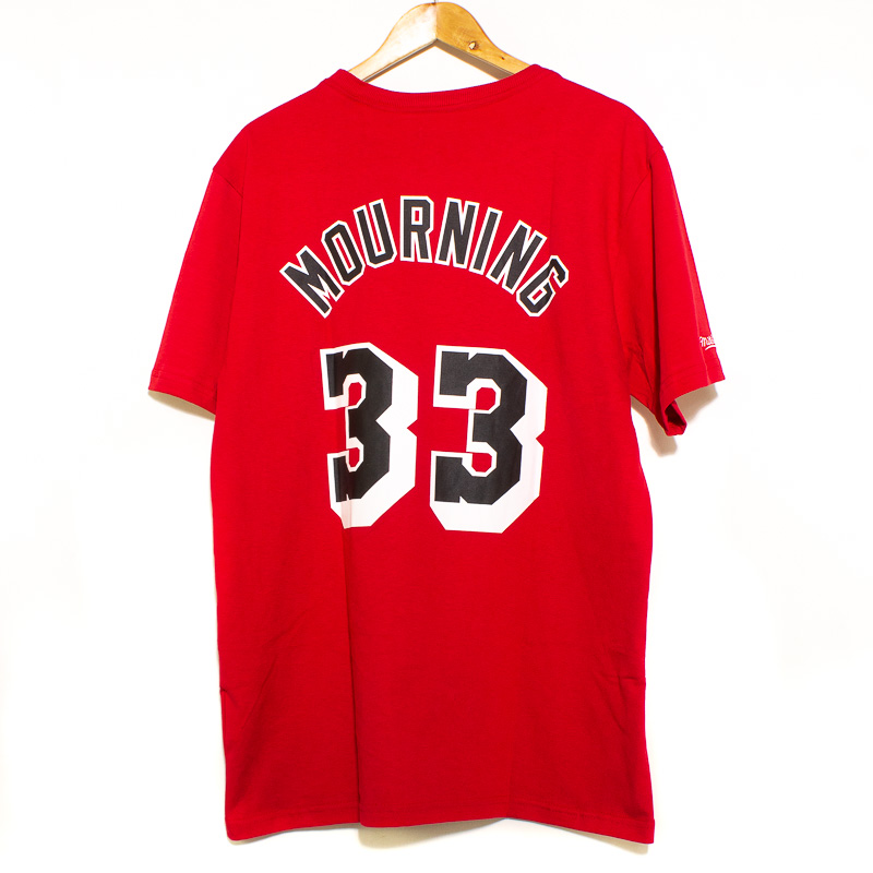 Camiseta Mitchell & Ness  Name & Number Miam Heat