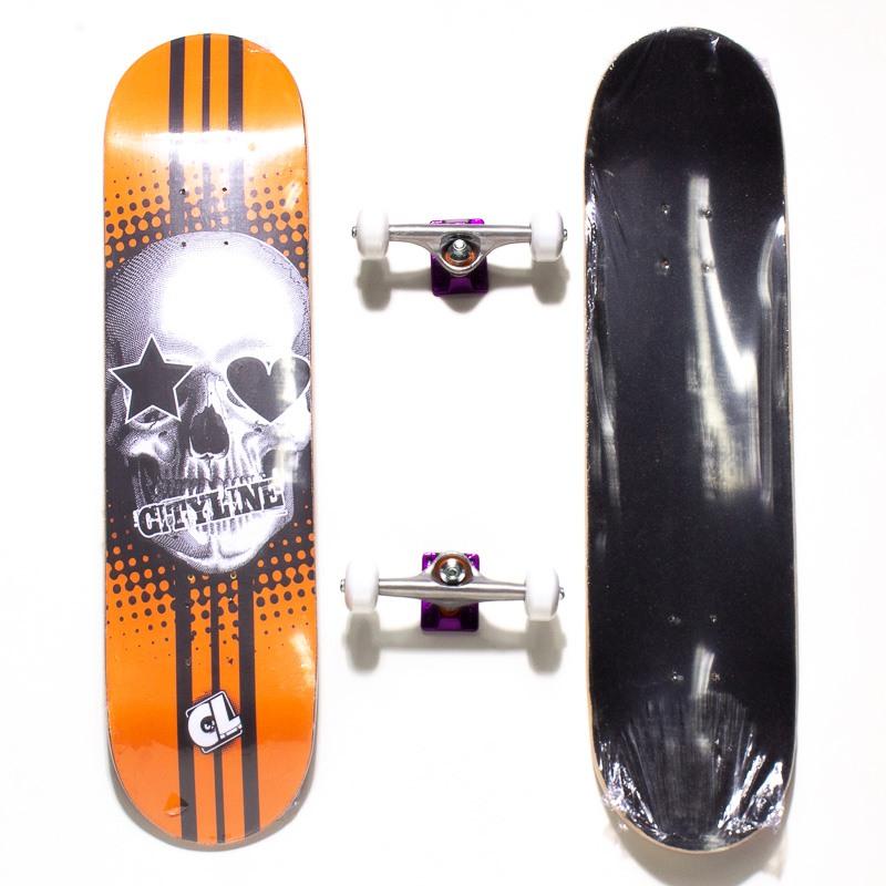 Skate Montado Cityline Laranja