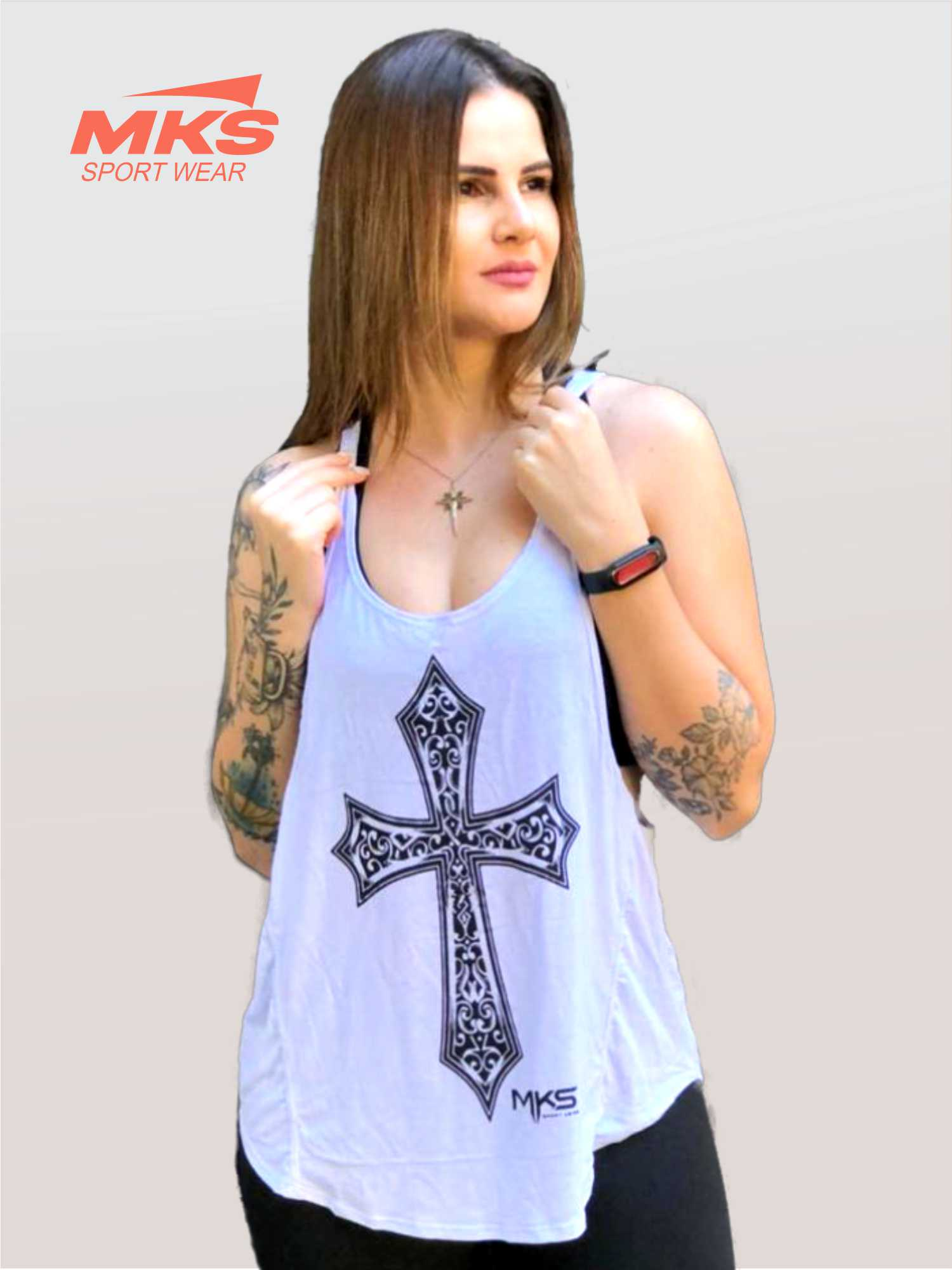 Blusa Academia Camiseta Cavada Fitness - Cruz