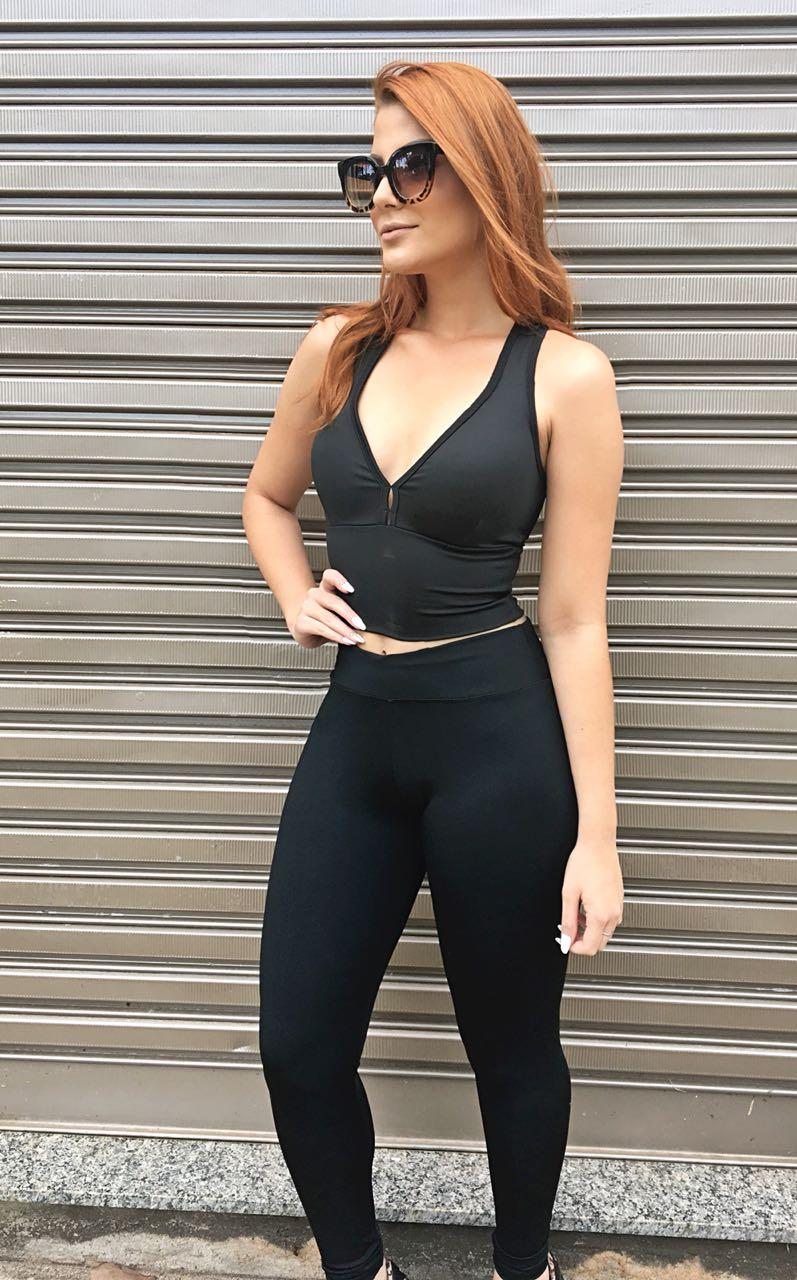 Top Cropped Fitness Feminino  - Bojo Removível