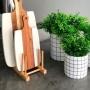 Display em bambu para 6 Pratos 27X12.5X12CM