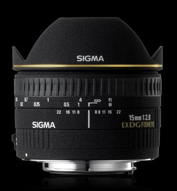 LENTE SIGMA 15MM F2.8 EX DG FISHEYE - (P/ CANON) OLHO DE PEIXE
