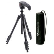 KIT TRIPÉ + CABEÇA MANFROTTO MKCOMPACTACN-BK (FOTO E VIDEO)