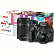 CANON EOS REBEL T100 PREMIUM KIT  EF-S 18-55mm + EF-S 55-250mm