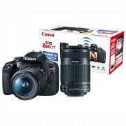CANON EOS REBEL T7 PREMIUM KIT EF-S 18-55mm + EF-S 55-250mm