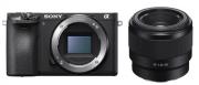 SONY A6500 CORPO + LENTE SEL FE 50mm F/1.8F -