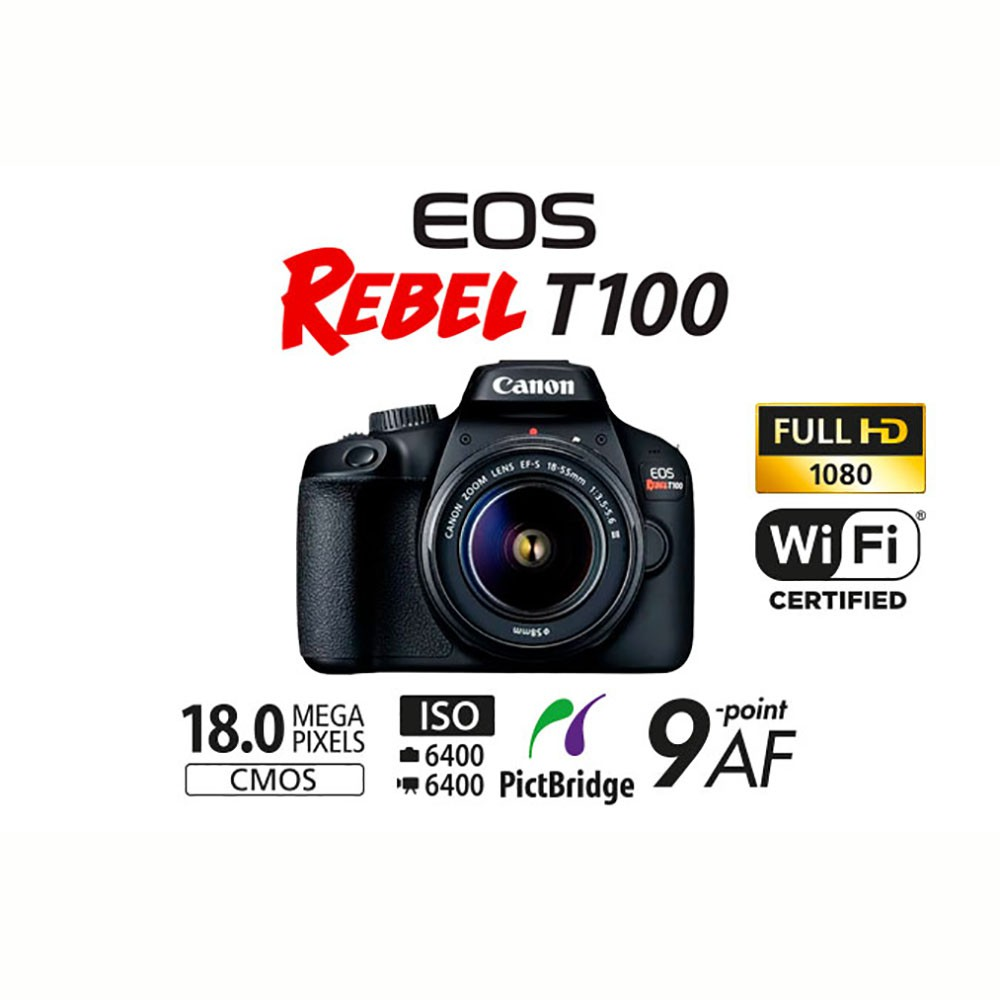 CANON EOS REBEL T100 KIT 18-55MM STM - 18MP