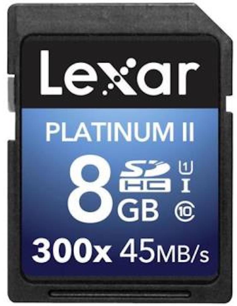CARTÃO DE MEMÓRIA LEXAR SDHC 8GB CLASSE 10 PLATINUM II 300x