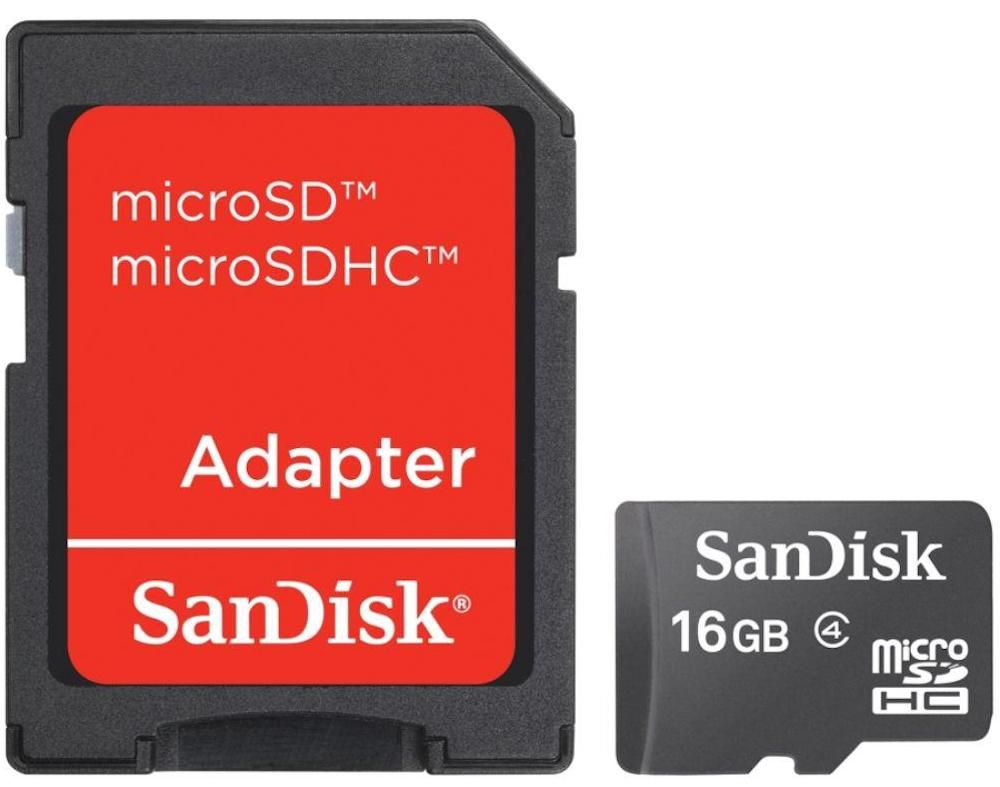 CARTÃO MICRO SD 16GB SANDISK CLASSE 4