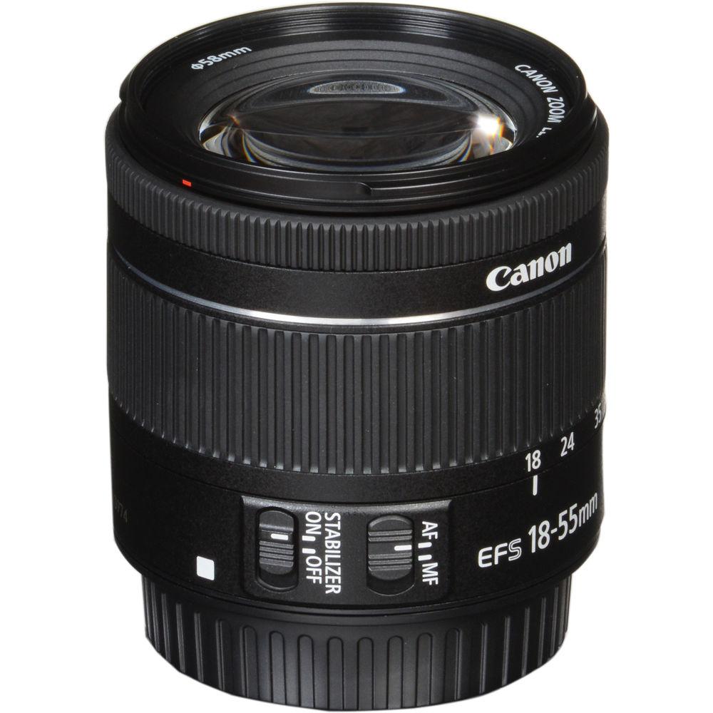 LENTE CANON EF-S 18-55mm f/4-5.6 IS STM