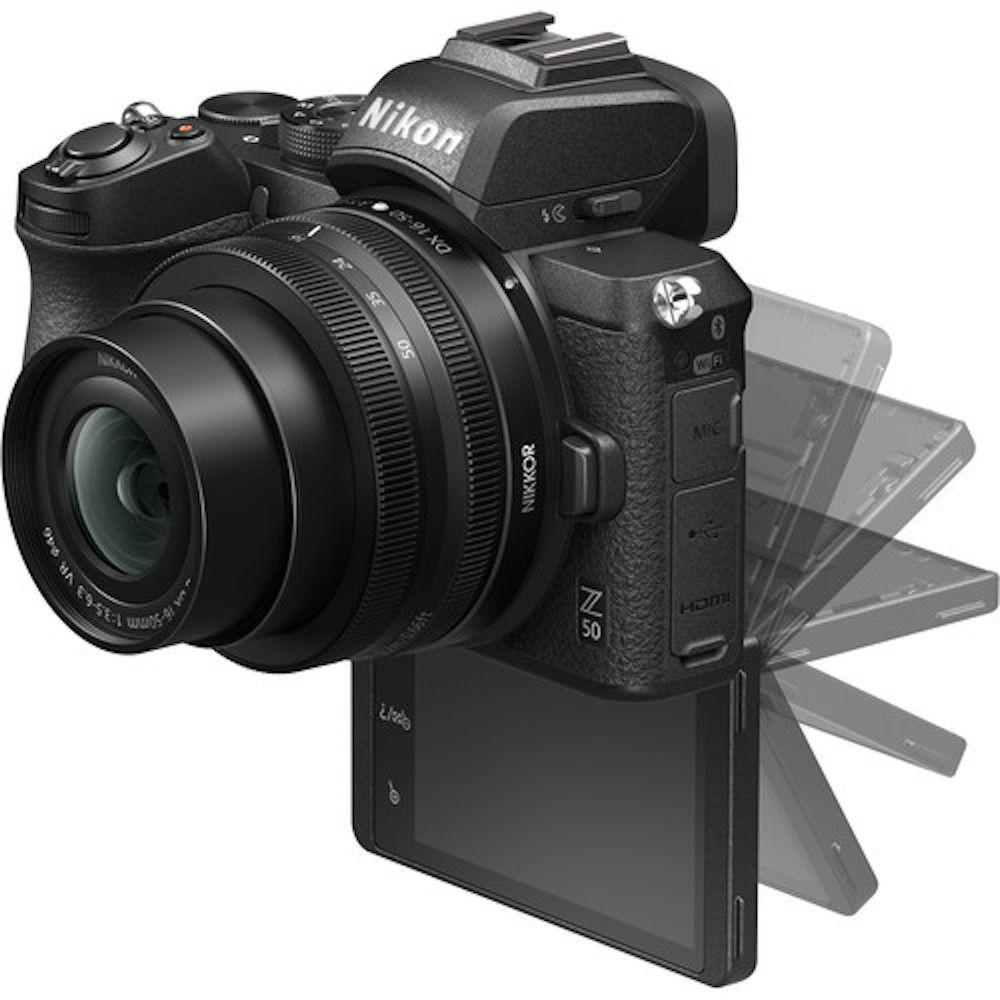 NIKON Z50 KIT 16-50mm F/3.5-6.3 VR + 50-250mm F/4.5-6.3 VR - 20.9MP