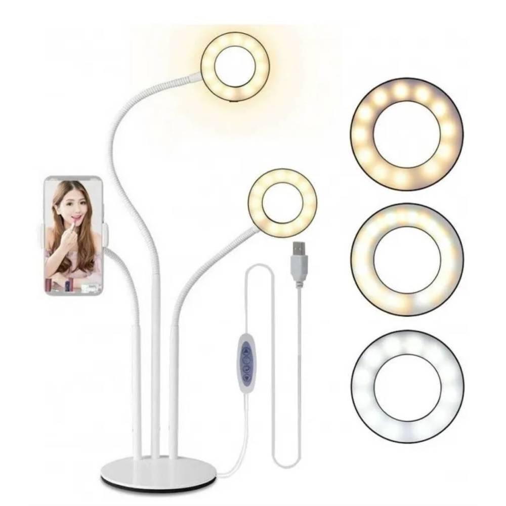 RING LIGHT SUPORTE DE MESA 3 EM 1- VIVITAR VIVPC102