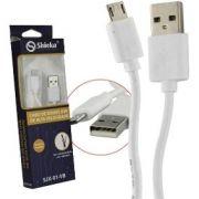 Cabo USB V8 1MT Branco 2.1A