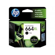 Cartucho HP 664XL Preto INK F6V31AB 8,5ML
