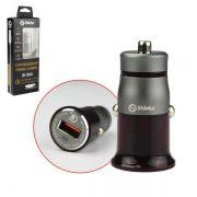 Fonte Veicular 1 USB Turbo + Cabo V8 1M Branco