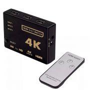 Switch 4K HDMI 3 Entradas 1 Saida C/CONTROLE Remoto