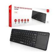 Teclado  sem  Fio com Mouse Touch K-WT100BK C3T