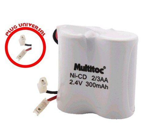 Bateria P/ Telefone S/ Fio MUVA0010-TH 300MHA Multitoc 2.4V  - Sarcompy