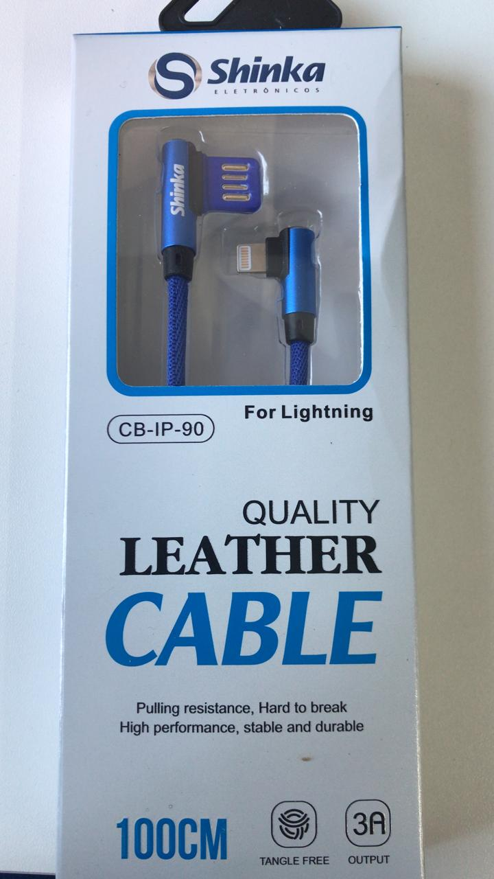 Cabo USB Lightning iPhone 9+0 Graus CB-IP-90  - Sarcompy
