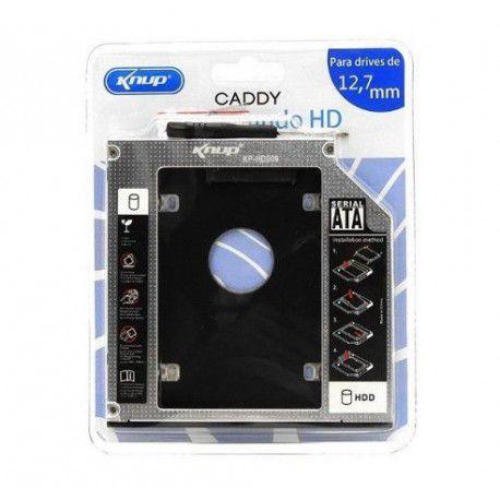 Case HD Adaptador Universal DVD para HD ou SSD 12,7MM EXBOM  - Sarcompy