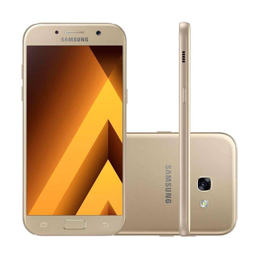 Celular Samsung Galaxy A7 2017 64GB Duos 4G Dourado SM-A720FZDKZTO  - Sarcompy