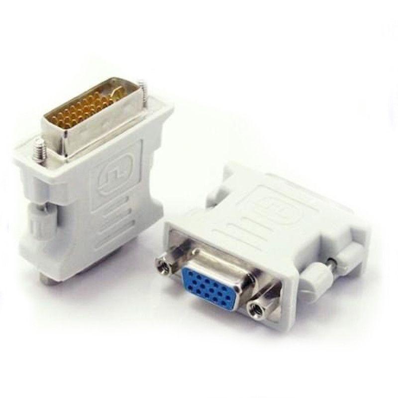Conversor Adaptador DVI-D 24+1 para VGA 15 Pinos Femea  - Sarcompy